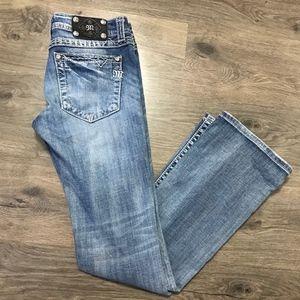 Miss Me Light Wash Boot Cut Jeans Size 28